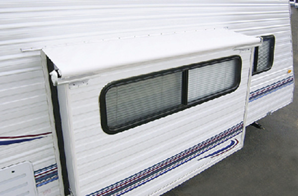 """CAREFREE OF COLORADO LH1290042 SLIDEOUT COVER 129"""" WHT W/RAIL"""