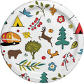 CAMP CASUAL CC-007W8 8.5  PAPER PLATES 24 CT - WOOD