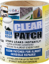 CO-FAIR CORP. QRCP86 QUICK ROOF CLEAR PATCH 8  X 6'