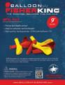 "Balloon Fisher King 41161 9"" Latex 4887-0003"