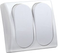 JR PRODUCTS 13585 MOD. SPST ON/OFF DOUBLE SW WHT