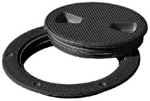TEMPRESS PRODUCTS 43135 SCREW OUT DECK PLATE 6IN BLACK