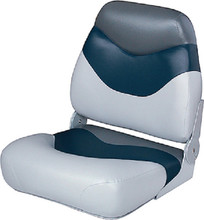 WISE SEATING 8WD999PLS-840 SEAT MID-BACK GREY/NAVY/CHAR