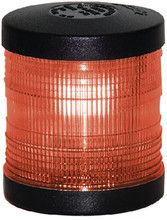 AQUA SIGNAL 250047 LIGHT A/R PED RED LENS BLACK