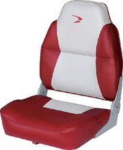 WISE SEATING 8WD640PLS-661 HIGH BACK SEAT GREY-RED