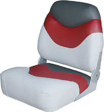 WISE SEATING 8WD999PLS-841 SEAT MID-BACK GREY/RED/CHAR