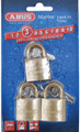 ABUS LOCK COMPANY 56413 PADLOCK BRASS 1-1/4 KEY 3/CD
