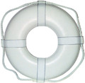 CAL JUNE BOUYS G-19 19  WHITE RING BUOY W/STRAPS