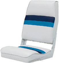 WISE SEATING 8WD434LS-1008 PONTOON HB BOAT SEAT WH-NA-BL