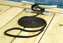 SEACHOICE 42431 POLY DOCK LINE BLK 3/8IN X 15F