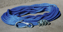 PANTHER 757010 ANCHOR ROPE 100'W/CLEAT & HOOK