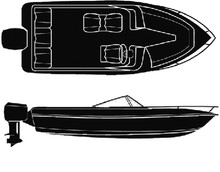 CARVER COVERS 50-97421 18'6  V-HULL WITH O/B COVER