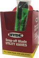 HYDE TOOLS 49697 SNAP KNIFE DSPY BOX 18MM 25PCC