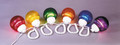 """POLYMER PRODUCTS LLC 1661-00523 FIXTURE MULTI COLOR 6"""" GLOBES"""