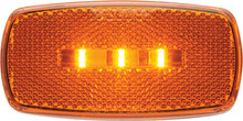 OPTRONICS MCL32RBP LED MARK LIGHT OVAL RED