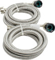 PINNACLE 18-2826 STAINLESS STEEL HOSES 5FT. PR.