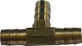 """HELIX RACING PRODUCTS 053-1470 HOSE SPLICER BRASS 3/16"""" 3WAY"""