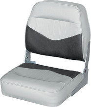 WISE SEATING 8WD418-911 CONTOURED LOW BACK GY/CHARCOAL