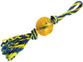"""PAWS ABOARD T1233 RUBBER BALL WITH ROPE LARGE 4"""""""