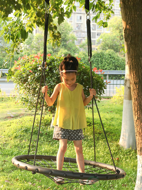 Playberg Outdoor Wooden Tree Swing With Hanging Ropes Spielzeug für draußen