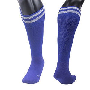 Lian LifeStyle Big Boys' 1 Pair Knee Length Sports Socks for Baseball/Soccer/Lacrosse XL003 M(Blue)