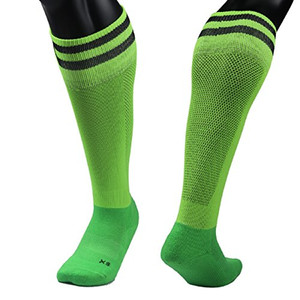 Lian LifeStyle Big Boys' 1 Pair Knee Length Sports Socks for Baseball/Soccer/Lacrosse XL003 M(Green)