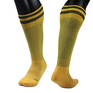 Lian LifeStyle Big Boys' 1 Pair Knee Length Sports Socks for Baseball/Soccer/Lacrosse XL003 M(Yellow)