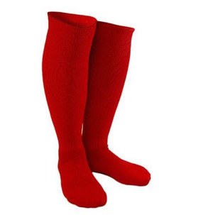 Adult Sports Socks Knee Length for Baseball/soccer/football (Red)