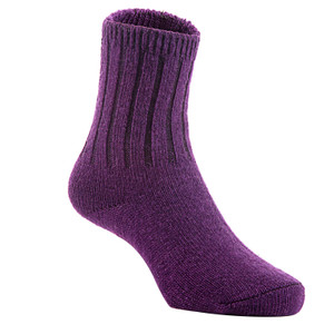 2 Pairs Children's Durable, Stretchable, Thick & Warm Wool Crew Socks. Perfect as Winter Snow Sock and All Seasons FS01 LA Size 0Y-2Y(Purple)