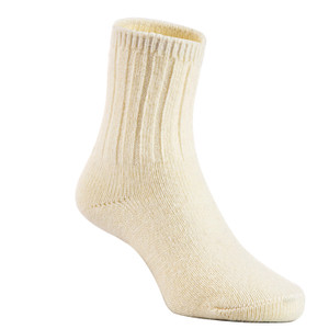 2 Pairs Children's Durable, Stretchable, Thick & Warm Wool Crew Socks. Perfect as Winter Snow Sock and All Seasons FS01 LA Size 0Y-2Y(White)