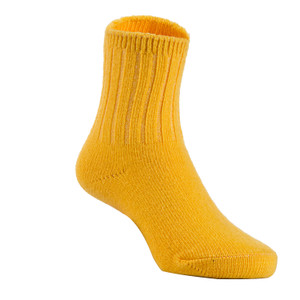 2 Pairs Children's Durable, Stretchable, Thick & Warm Wool Crew Socks. Perfect as Winter Snow Sock and All Seasons FS01 LA Size 0Y-2Y(Yellow)