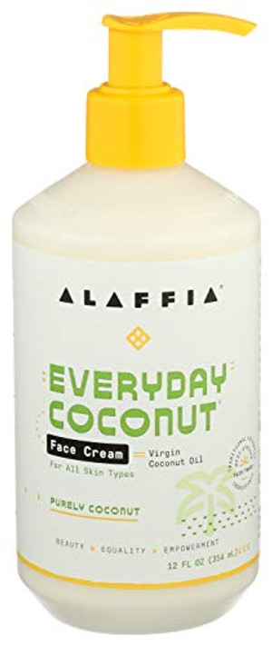 Alaffia - Everyday Coconut Night Cream, Normal to Dry Skin, Moisturizing Support to Restore Firm, Youthful Skin and Reduce Wrinkles with Neem, Kpagnan, and Lavender, Fair Trade, 12 Ounces