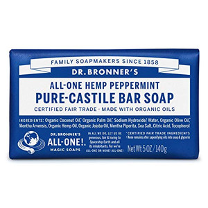 Dr. Bronner Organic Peppermint Scent Pure-Castile Bar Soap 5 oz.