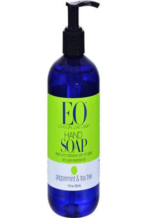 EO Products Hand Soap Peppermint & Tea Tree, 12 fl. oz.