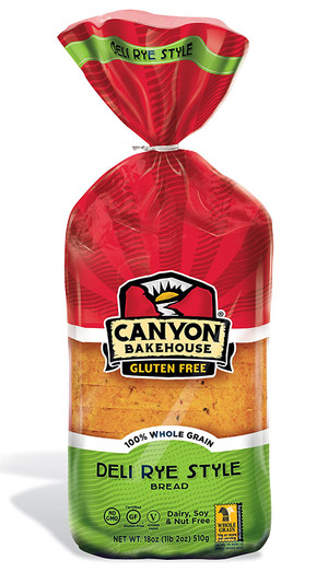 Canyon Bakehouse (Caraway) Deli Rye Style Gluten-free Bread 4pack(18oz Each)