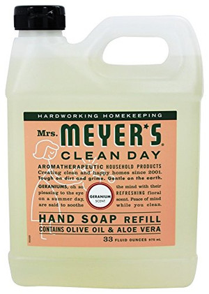 33 oz Liquid Hand Soap Refill Pouch with Geranium (Pack of 2)