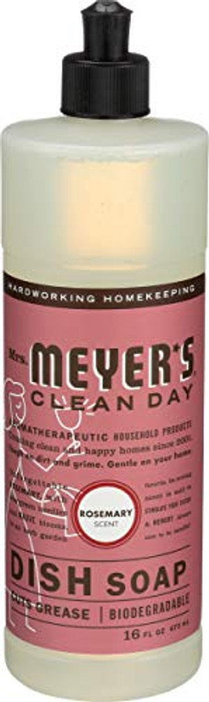 Mrs Meyer's, Liquid Dish Soap Rosemary, 16 Fl Oz