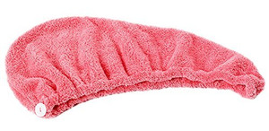 Lian LifeStyle 2 Pieces Women's Microfiber Hair Drying Towel/Cap/Hat One Size Multi Color