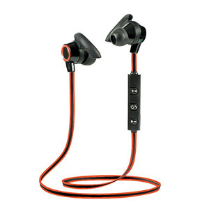 Lian LifeStyle Bluetooth Headphones In Ear Wireless Earbuds 4.1 Magnetic Sweatproof Stereo Bluetooth Earphones for Sports With Mic (Upgraded 7 Hours Play Time Secure Fit Noise Cancelling) M2 Red