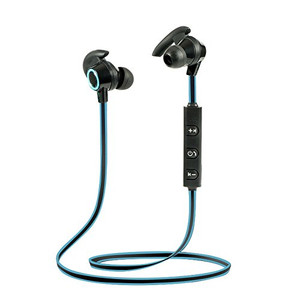 Lian LifeStyle Bluetooth Headphones In Ear Wireless Earbuds 4.1 Magnetic Sweatproof Stereo Bluetooth Earphones for Sports With Mic (Upgraded 7 Hours Play Time Secure Fit Noise Cancelling) M2 Blue