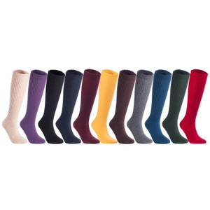 Lian LifeStyle Women's 3 Pairs Exceptional Non slip, Cozy and Cool Knee High Wool Socks LFS05 Size 6-9 (Assorted)