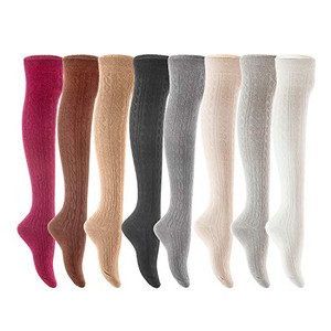 AATMart Big Girl's Women's 3 Pairs Cute Cozy Fancy Knee High Cotton Boot Socks with a Wide Color and Size Range Size 6-9 T1024 (Assorted)