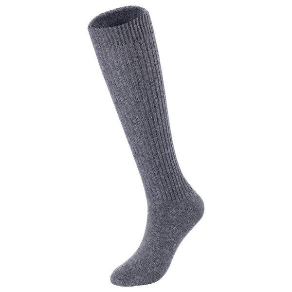 Lovely Annie Big Girl's & Women's 3 Pairs Exceptional Non slip, Cozy and Cool Knee High Wool Socks AFS05 Size 6-9 (Grey, Navy, Green)