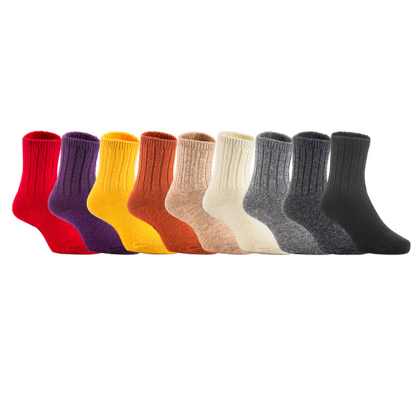 2 Pairs Children's Durable, Stretchable, Thick & Warm Wool Crew Socks. Perfect as Winter Snow Sock and All Seasons FS01 LA Size 0Y-2Y(Pink)