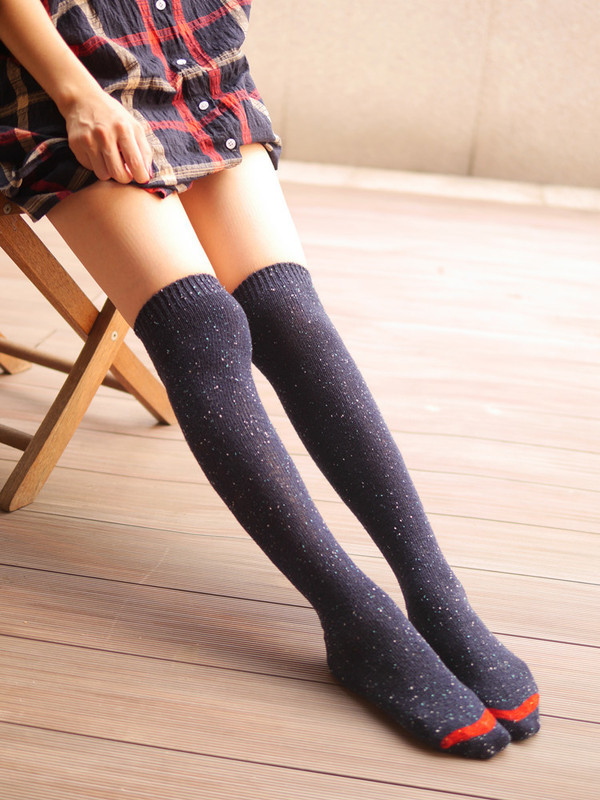 Lovely Annie Women's 4 Pairs Knee High Cotton Socks Size 7-9