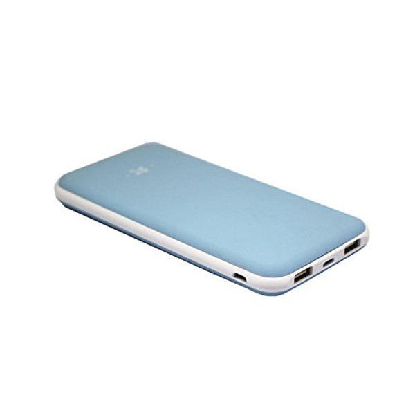 Lian LifeStyle 10000mAh Portable Charger Dual USB Output - Ultra High Capacity Power Bank with 2A Output High-Speed Charging for iPhone iPad & Samsung Galaxy & More -Y3 Blue