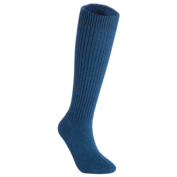 Lian LifeStyle Big Girl's & Women's 3 Pairs Exceptional Non slip, Cozy and Cool Knee High Wool Socks LFS05 Size L/XL (Blue, Grey, Black)