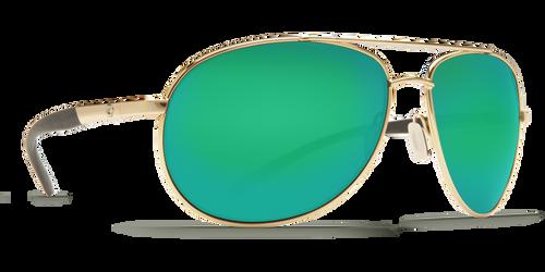 Costa Wingman -  Green Mirror Glass - W580, Gold Frame
