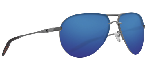 Costa Helo Blue Mirror 580P Matte Silver + Grey/Orange
