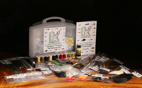 Hareline Fly Tying Material Kit w/Premium Tools and Vise